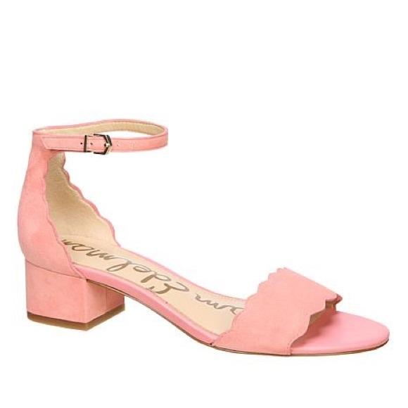 ec2b71bcd68 NEW Sam Edelman Inara Scalloped Sandals 8.5 Peach